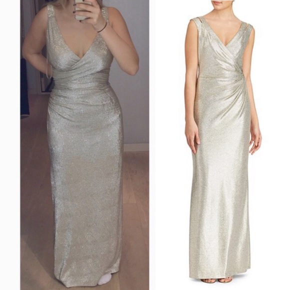 2ce3eead00 Ralph Lauren evening dress in white gold. NWT